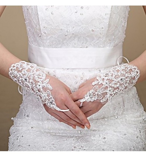 Elbow Length Glove Tulle Bridal Gloves Spring / Summer / Fall / Winter