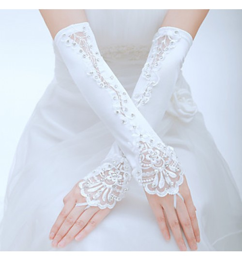 Elbow Length Fingerless Glove Tulle Bridal Gloves / Party/ Evening Gloves Spring / Summer / Fall