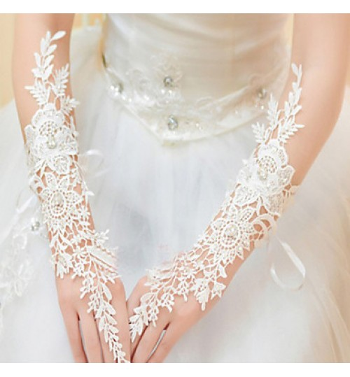 Elbow Length Fingerless Glove Lace Bridal Gloves / Party/ Evening Gloves Spring / Summer / Fall