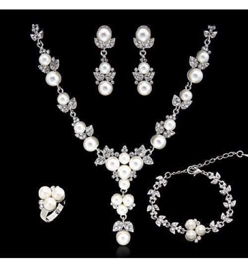 Jewelry Set Women's Anniversary / Wedding / Engagement / Birthday / Gift / Party / Daily / Special Occasion Jewelry Sets AlloyImitation